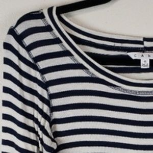 CAbi Tops - CAbi Deckhand Tee nautical striped style 349 sz M